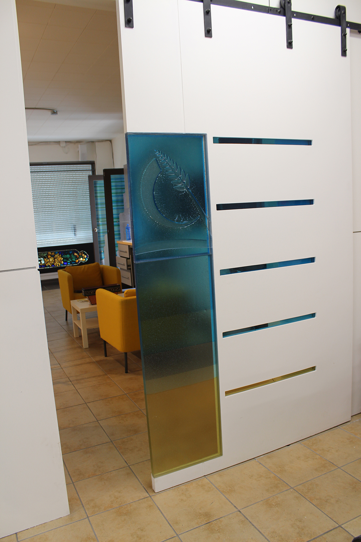 glass barn doors. Custom-fused-glass-barn-door-4 Glass Barn Doors