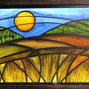 LED Stained Glass Prairie Scene