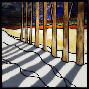 Trees with Shadow Stained Glass