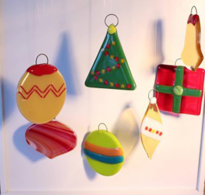 no experience necessary fused holiday ornaments